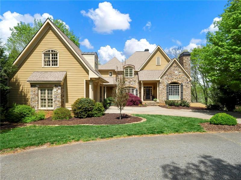 golf course home in the north georgia mountains with long range views for sale